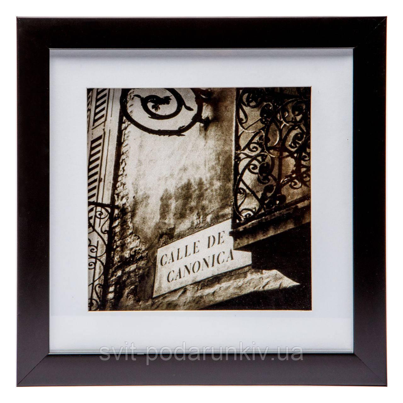 Привлекательная картина на стену ретро 23*23 B-81-04 (черный, белый)