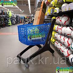 Тележка для покупок 160 л Midi Eko 1060х595х1060 мм, пластиковая торговая тележка на колесах в магазин