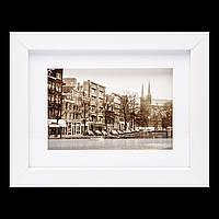"""Картина ретро """"Город на реке"""" 18*23 B-77-04 (белый)"""
