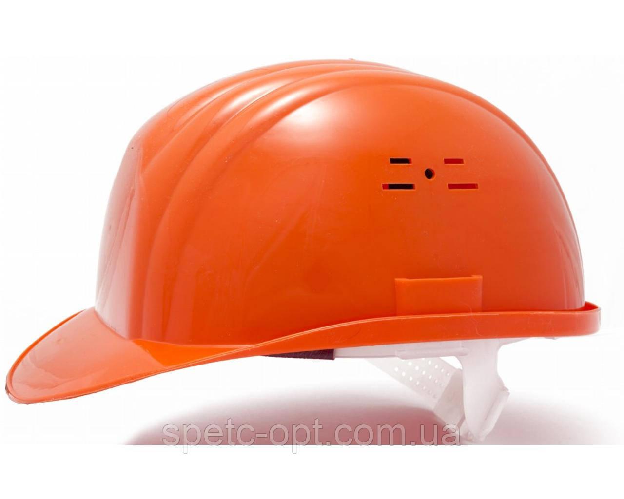 Каска строительная (оранжевая). Каска защитная.