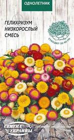 Семена Гелихризум низкорослый смесь 0,2 г, Семена Украины