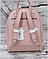 Вместительный женский рюкзак David Jones, пудровый городской / жіночий рюкзак рожевий, фото 3