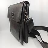 Шкіряна чоловіча сумка через плече / Мужская кожаная сумка через плечо PUB001, фото 3