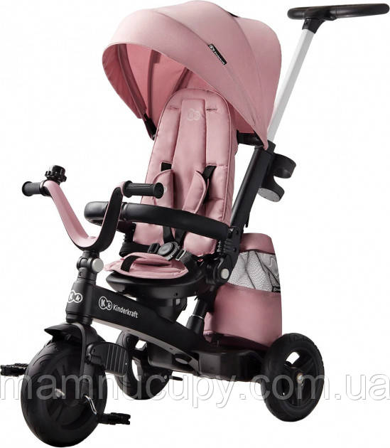 Детский трехколесный велосипед Kinderkraft EasyTwist Pink
