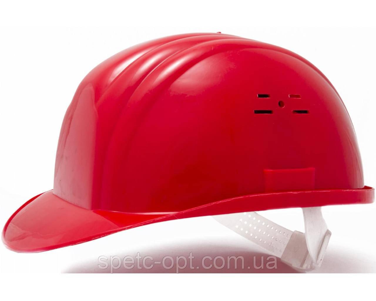 Каска строительная (красная). Каска защитная.