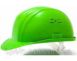 Каска будівельна (зелена). Каска захисна.