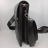 Шкіряна чоловіча сумка через плече / Мужская кожаная сумка через плечо PUB002, фото 3
