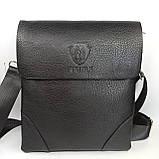 Шкіряна чоловіча сумка через плече / Мужская кожаная сумка через плечо PUB002, фото 2