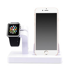 Док-станция Grand Charger Dock для Apple Watch и iPhone White AL2606, КОД: 1130707