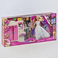 Набор кукол 66874 с аксессуарами для окрашивания волос, мебель