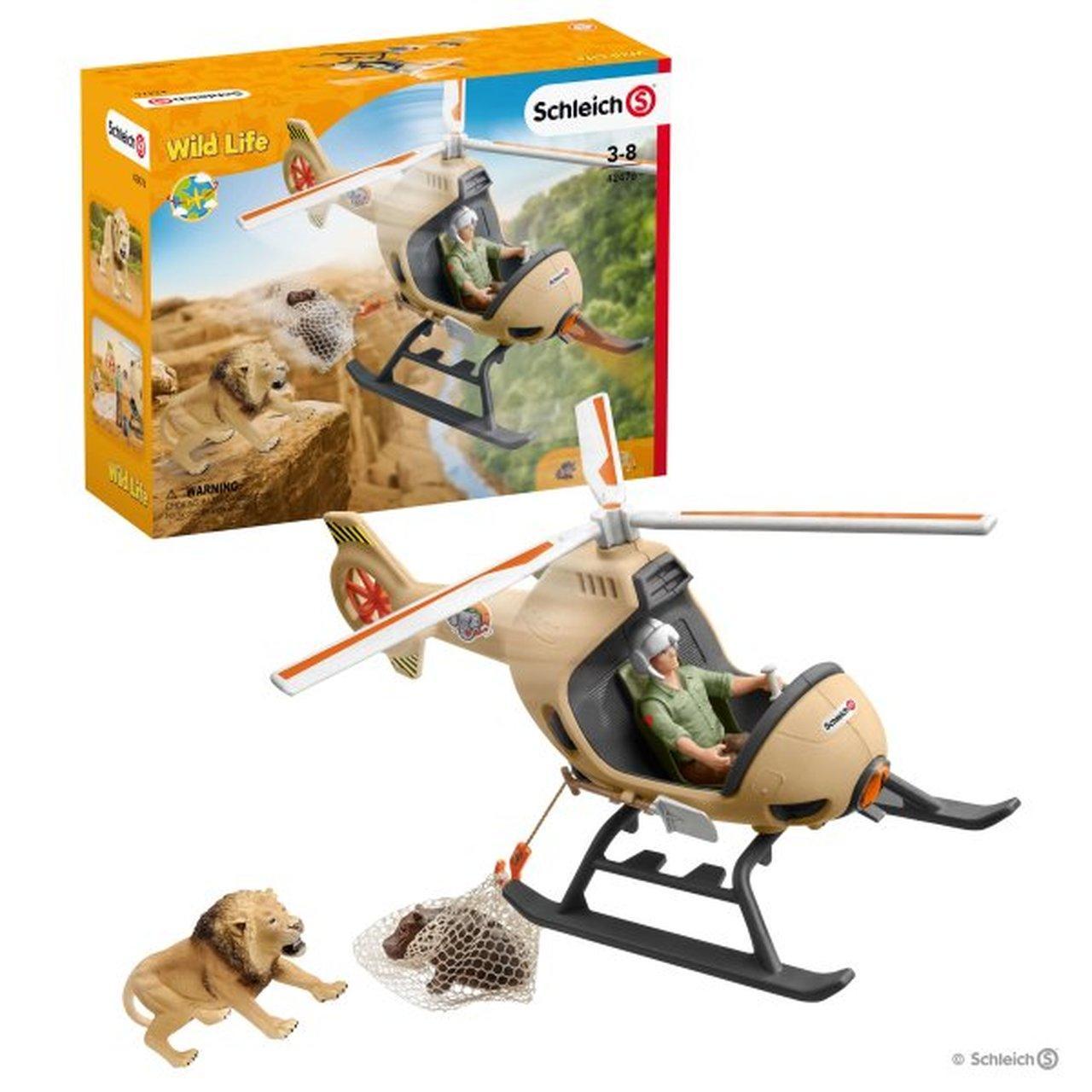 Schleich 42476   Вертоліт для порятунку тварин Animal rescue helicopter Вертолет для спасения животных