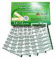 Пластырь бактерицидный IGAR Эластик 1,9 х 7,2 см (100 шт/уп)