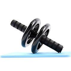 Колесо для мышц пресса Dobetters DBT-JF-01 Black двойное 16.5 см спортивный фитнес ролик