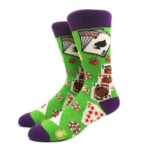 Прикольні чоловічі шкарпетки з принтом Покер