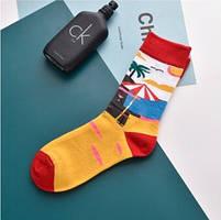 Прикольні чоловічі шкарпетки з принтом Пляжу, фото 5