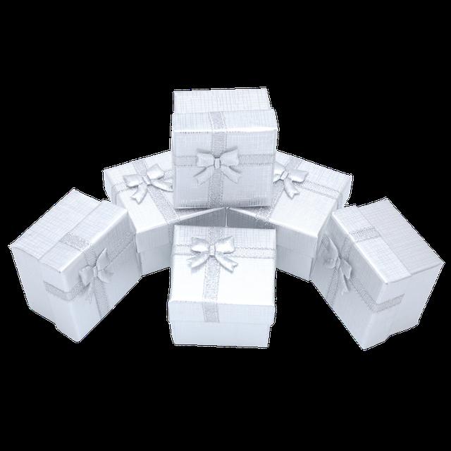 Картинка Коробочка ювелирная box1-7 Серебристый