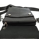 Шкіряна чоловіча сумка через плече / Мужская кожаная сумка через плечо PUB005, фото 4