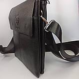 Шкіряна чоловіча сумка через плече / Мужская кожаная сумка через плечо PUB005, фото 3