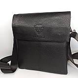 Шкіряна чоловіча сумка через плече / Мужская кожаная сумка через плечо PUB005, фото 2