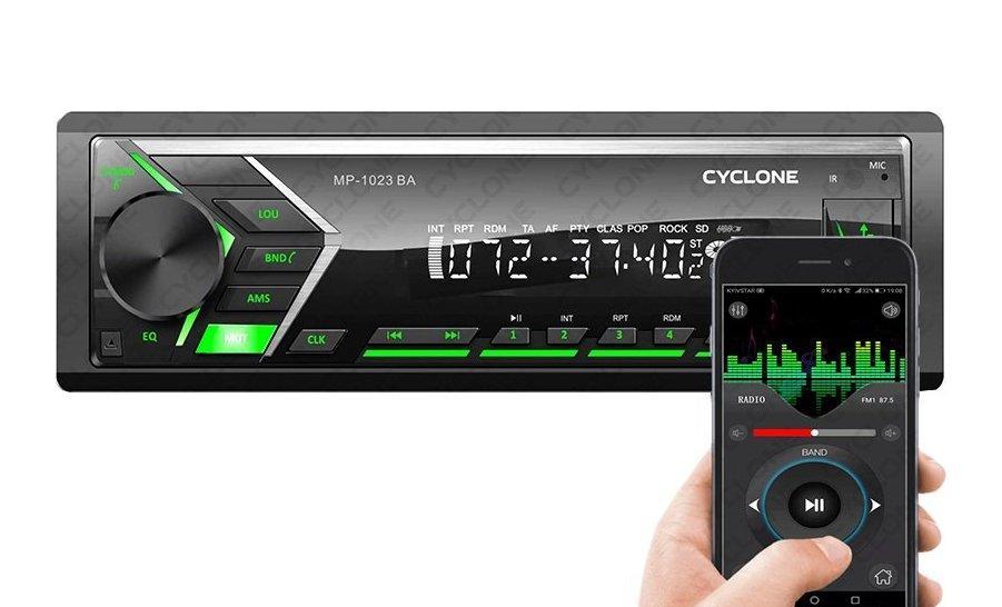 Автомагнитола Cyclone MP-1023G BA (1DIN, Micro SD, Bluetooth, FM, USB,12 мес гарантия)