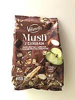 Мюсли овсяные Vitanella с шоколадом, яблоками и миндалем, 350 г