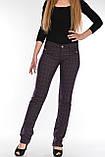 Брюки женские OMAT jeans 9665 Клетка (MOR) баклажанные, фото 7