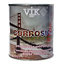Краска по металлу антикорозийная VIK Corrosion 0.75л Белый (500)