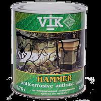 Краска по металлу Vik hammer 0.75л Верде (118)