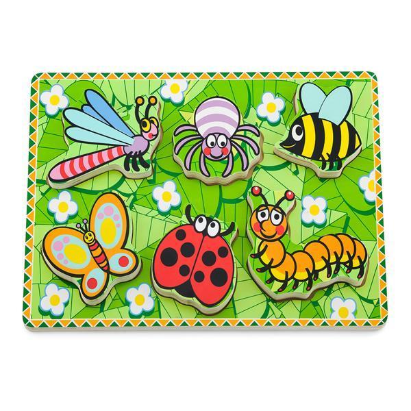 Деревянная рамка-вкладыш Viga Toys Насекомые (56437)