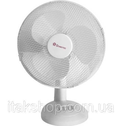 Вентилятор настільний Domotec MS-1625 36Вт з автоповоротом (Білий)