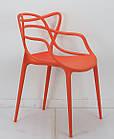 Стул пластик Bari (Бари) оранжевый, штабелируемый, фото 2