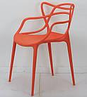 Стул пластик Bari (Бари) оранжевый, штабелируемый, фото 3