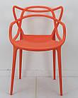 Стул пластик Bari (Бари) оранжевый, штабелируемый, фото 5