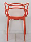 Стул пластик Bari (Бари) оранжевый, штабелируемый, фото 4