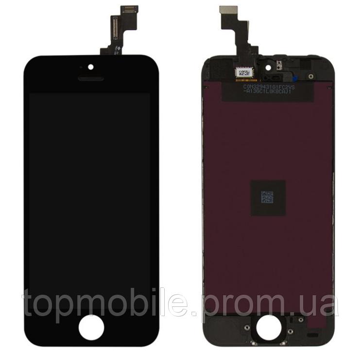 Модуль iPhone 5S/SE  черный, оригинал Китай ( дисплей, сенсор, стекло, экран)