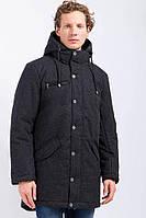 Куртка мужская зимняя Finn Flare W17-22010F-200 из шерсти с капюшоном черное