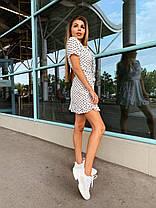 Летнее платье в горох с рюшей хит сезона, фото 2
