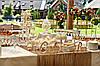 Свадебный Кенди бар (Candy Bar) в пастельных светлых тонах ( белом  - золотом - бежевом цвете)