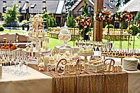 Свадебный Кенди бар (Candy Bar) в пастельных светлых тонах ( белом  - золотом - бежевом цвете), фото 1