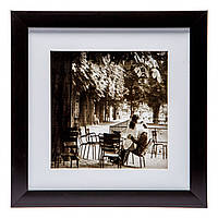 Картина в зал в стиле ретро 23*23 B-81-11 (черный, белый)