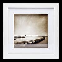 Ретро картина в спальню 23*23 B-81-13 (белый)