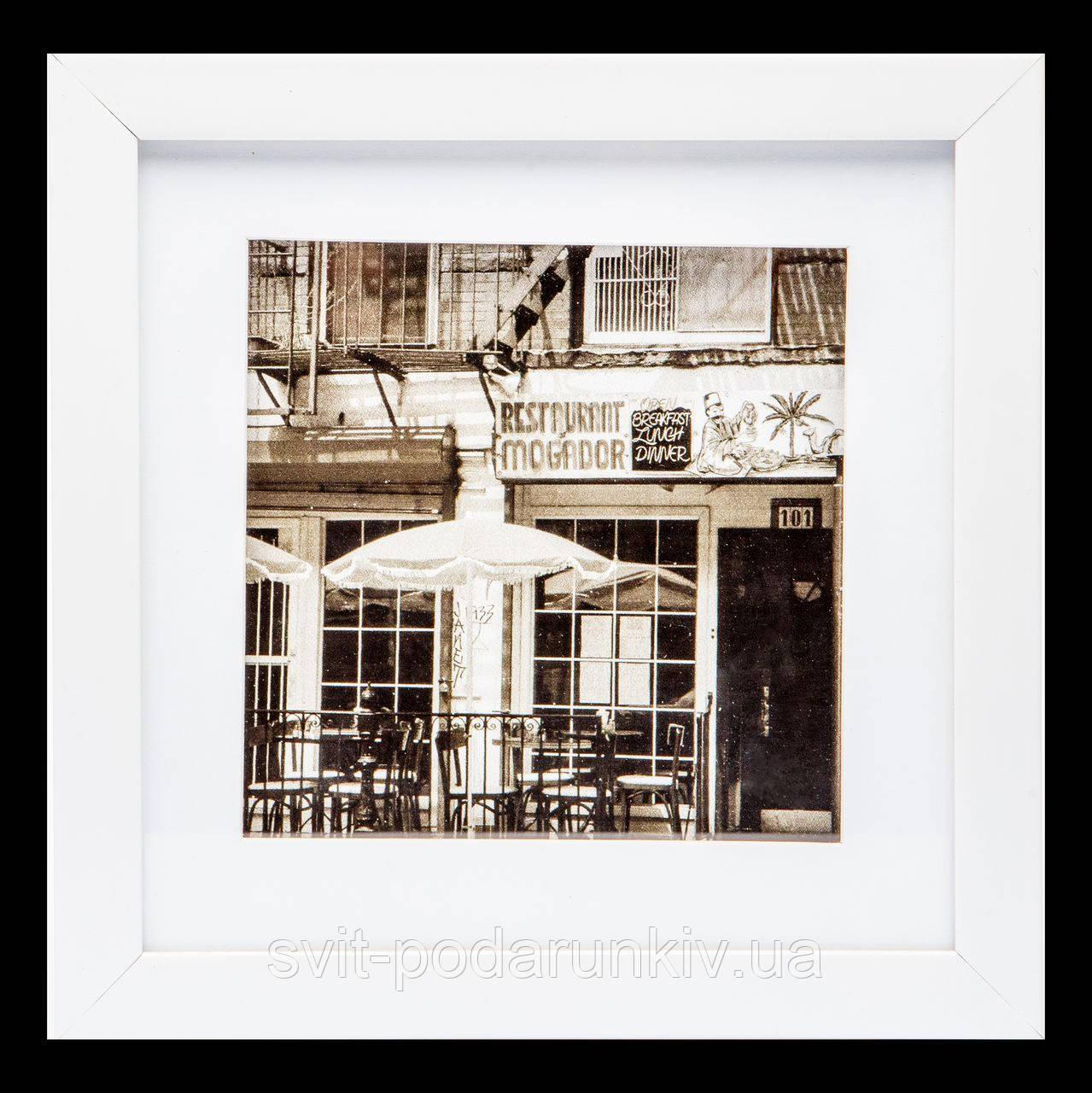 Красивая картина для гостиной в стиле ретро 23*23 B-81-15 (белый)