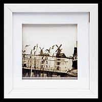 Картина на стену в спальню ретро стиль 23*23 B-81-16 (белый)