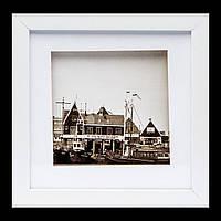 Стильная картина с фотографией в стиле ретро 23*23 B-81-20 (белый)