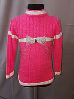 Теплая вязанная туника для девочки 7, 8 лет, фото 1