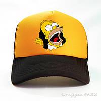 Бейсболка SIMPSONS жовтого кольору і чорним козирком