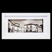 Картина с ретро фотографией в белой раме 18*33 B-78-05 (белый)