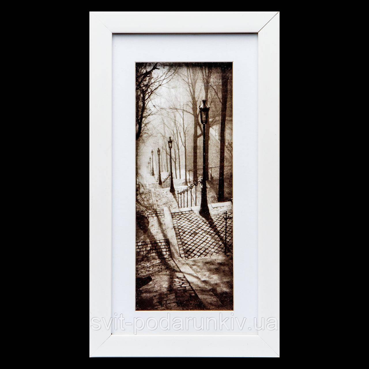 Ретро картина с фото прямоугольная 18*33 B-78-13 (белый)
