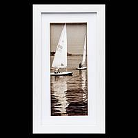 Морская картина с фото в стиле ретро 18*33 B-78-23 (белый)