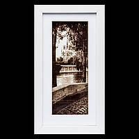 "Картина в стиле ретро 18*33 B-78-29 ""Парк у реки"" (белый)"